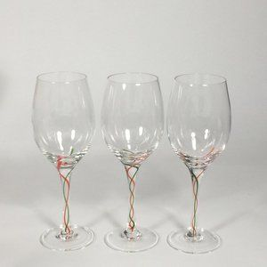 1 Lenox crystal Water goblet Holiday Ribbon twist